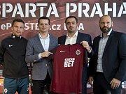 Fotbalová Sparta představila nového generálního partnera, společnost Sazka Bet.