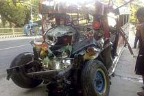 Dopravní nehoda u filipínského města Aago