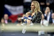 Štěpánkova manželka Nicole Vaidišová a jejich dcera Stella.