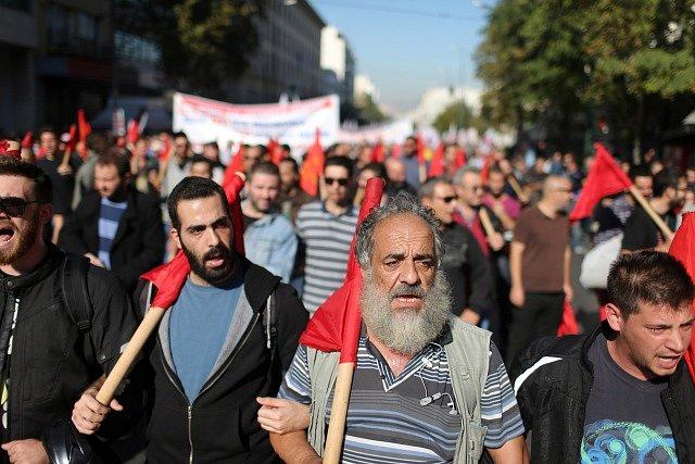 Generální stávka v roce 2015.