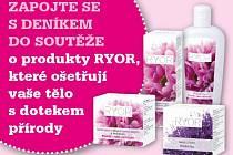 Zapojte se s regionálním Deníkem do soutěže o produkty RYOR, které ošetřují vaše tělo s dotekem přírody.