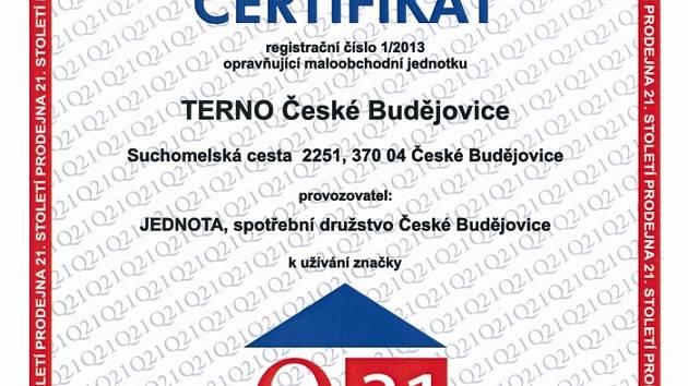 Certifikat Terno