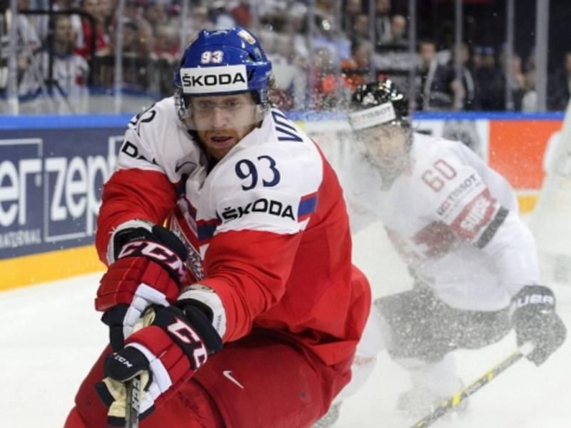 Jakub Voráček proti Švýcarsku.