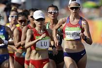 Anežka Drahotová (vpravo) na olympijských hrách v Riu.