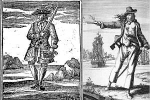 Jack Rackham alias Calico Jack a jeho milenka Anne Bonnyová. Pro vztah s Jackem hrozil vdané Bonnyové veřejný výprask, nakonec přesto s pirátem utekla