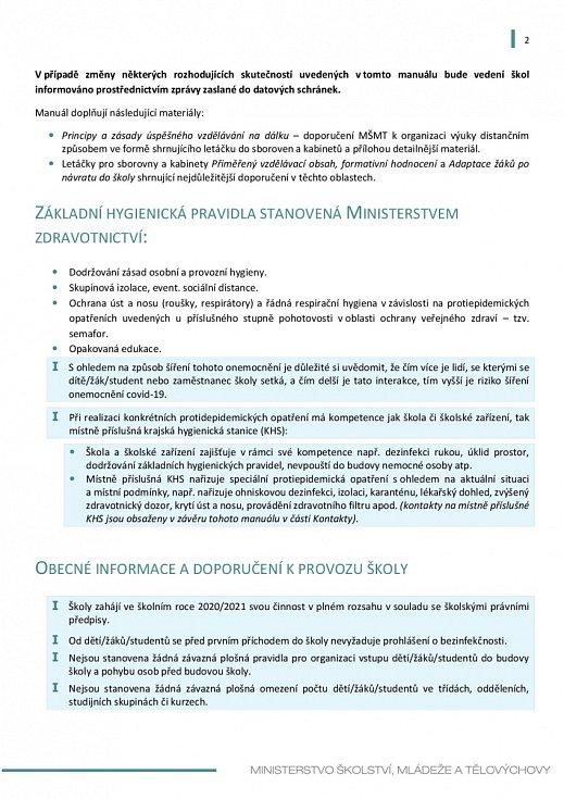 Manuál pro výuku na školách v době koronaviru - strana 2