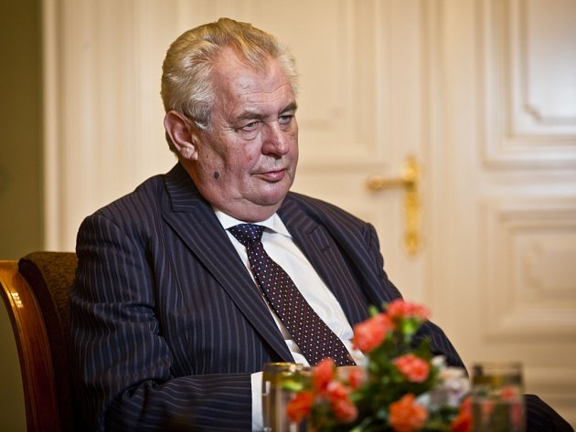 Prezident Miloš Zeman poskytl 8.ledna na Pražském hradě rozhovor Deníku.