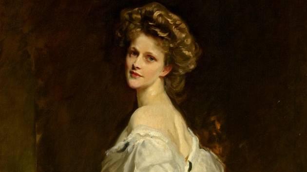 Portrét lady Nancy Astorové od Johna Singera Sargenta z roku 1909