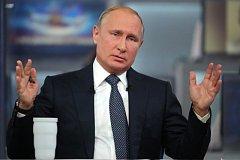 Ruský prezident Vladimir Putin při tradiční besedě s občany