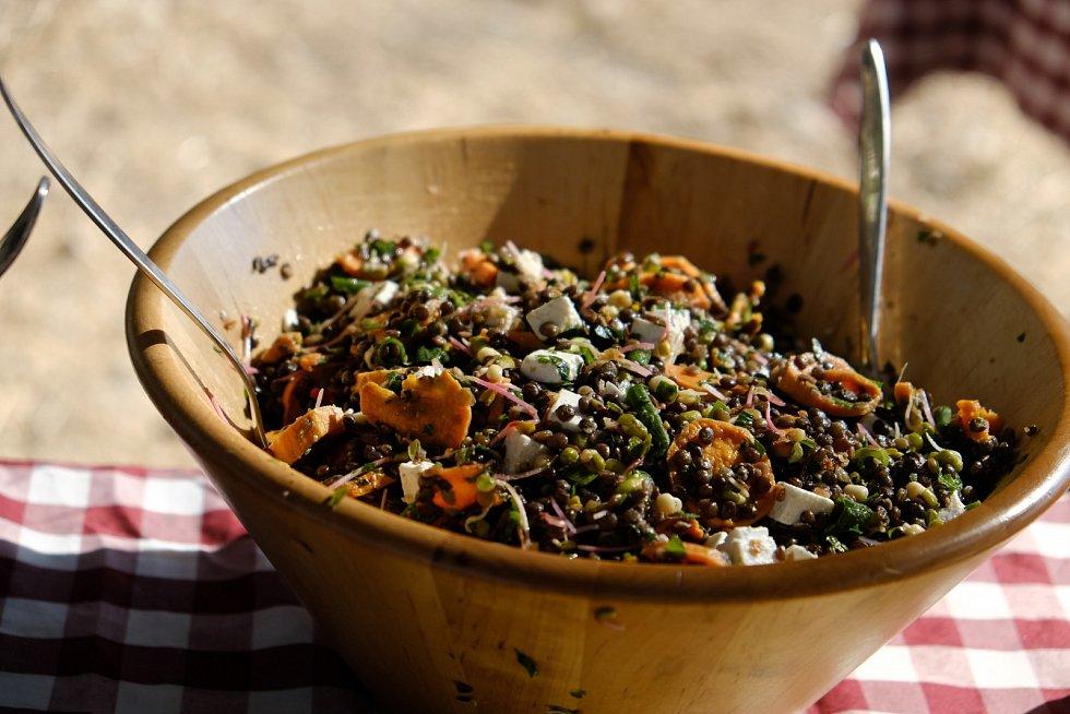 Čočkový salát s dýní