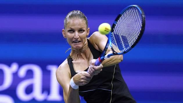 Česká tenistka Karolína Plíšková ve čtvrtfinále US Open.