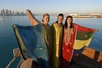 Tři největší hvězdy v Kataru? Angelique Kerberová, Agniezska Radwaňská a Simona Halepová pózovaly fotografům