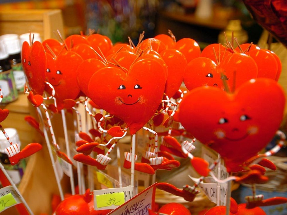 Srdíčka jsou na sv. Valentýna všude