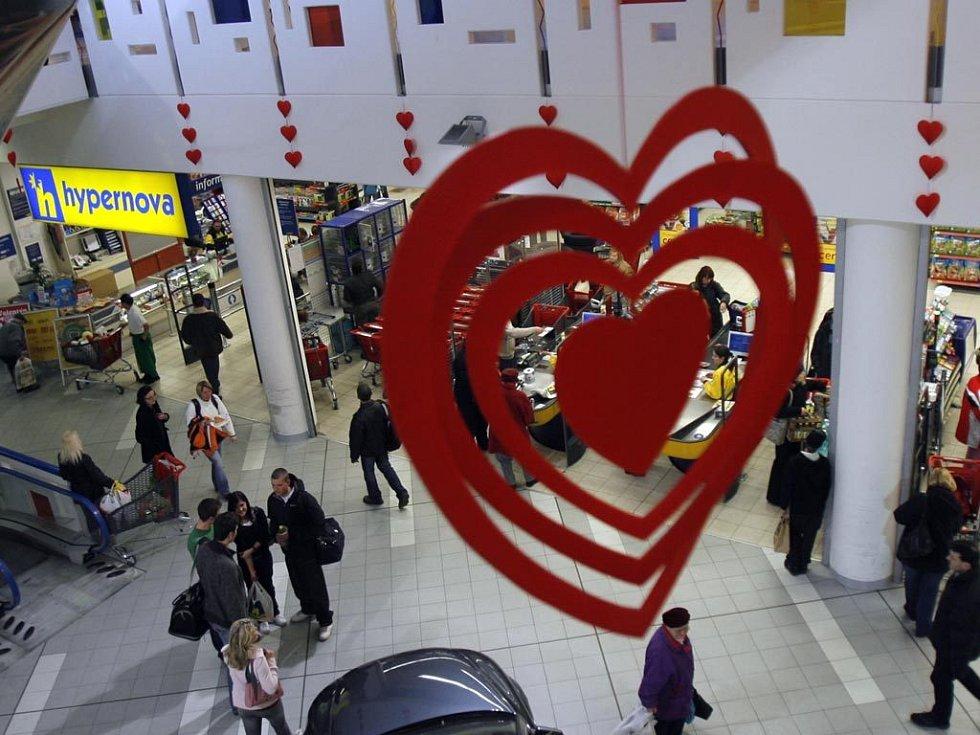 Srdíčka jsou i v supermarketech
