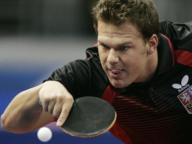 Tomáš Pavelka v zápase se švédskou jedničkou Jensem Lundqvistem.