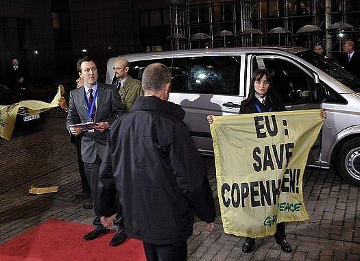 Ekologičtí aktivisté na summitu EU v Kodani