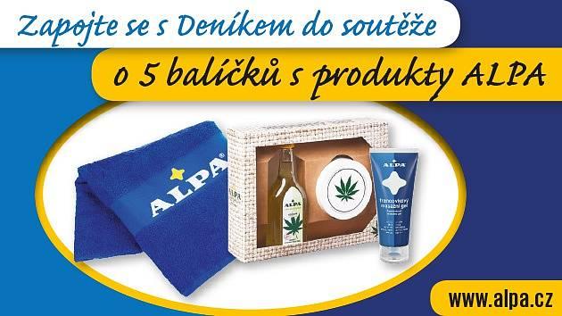 Zapojte se s Deníkem do soutěže o balíčky s produkty značky Alpa
