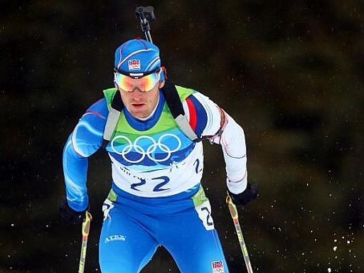 Český biatlonista Michal Šlesingr na olympijských hrách ve Vancouveru.