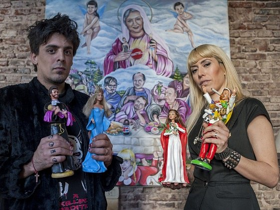 Umělci Emiliano Paolini a Marianella Perelliová.