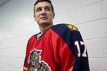 Český hokejový obránce Filip Kuba v dresu Floridy Panthers.