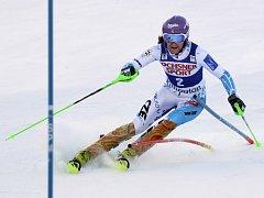 Šárka Strachová ve slalomu SP v Killingtonu.
