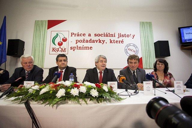 KSČM: Josef Skála, Petr Šimůnek,Vojtěch Filip, Jiří Dolejš