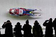 Matěj Kvíčala a Jaromír Kudera na olympijské trati