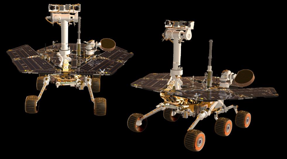 Příprava na cestu do vesmíru. Vzhledově zcela stejné sondy Opportunity a Spirit se na Mars dostaly v roce 2004.