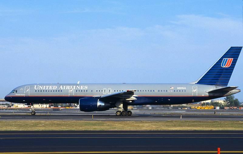 Stroj společnosti United Airlines, který byl 11. září 2001 použit pro let číslo 93 United Airlines.
