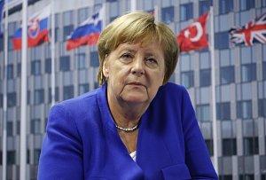 Angela Merkelová na summitu NATO v Bruselu