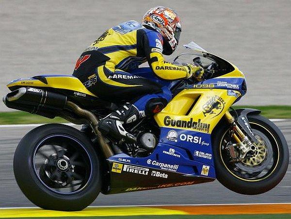 Jakub Smrž na své Ducati 1098 F08.