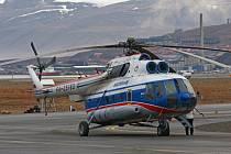 Helikoptéra Mil MI-8 ve službách ruské těžařské společnosti Arktikugol