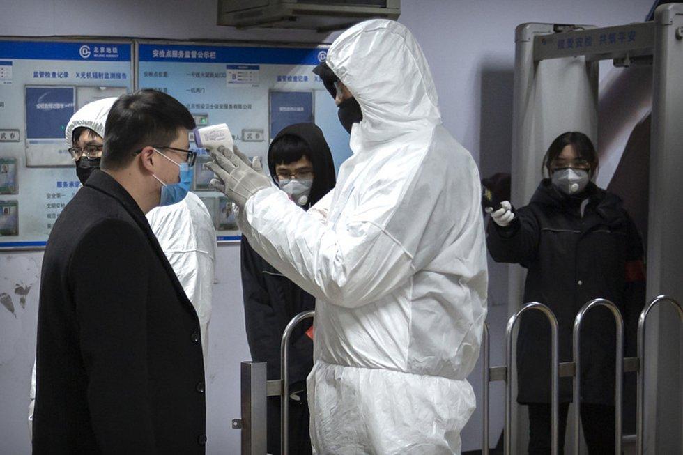 Kontrola v pekingském metru.