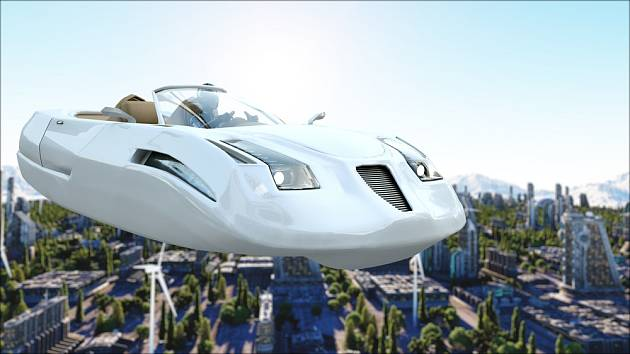 Mezi oblíbené dopravní prostředky autorů sci-fi patří létající auta - v angličtině aerocar.