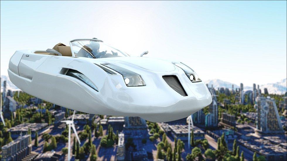 Mezi oblíbené dopravní prostředky autorů sci-fi patří létající auta.