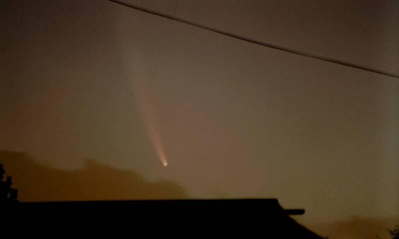 McNaughtova kometa na snímku v roce 2006