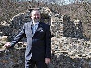 Zdeněk Bergman na hradě v Krupce