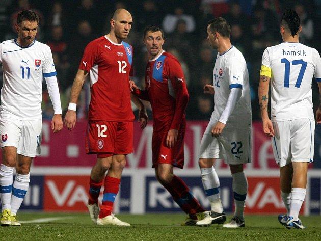 Konec zápasu. Slováci si právě připsali krutý debakl, navíc na české půdě.