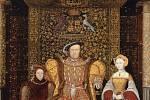 Jindřich VIII. se svým synem a manželkou.
