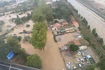 Záplavy v jižní Francii (snímek z října 2019)