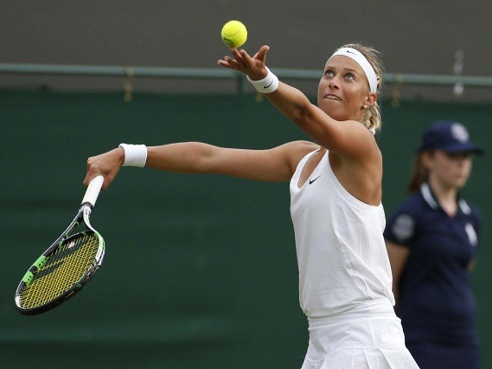 Andrea Hlaváčková na Wimbledonu.