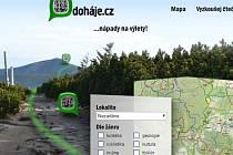 Webová stránka Doháje.cz.
