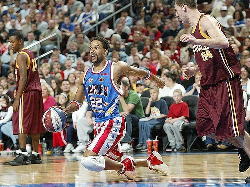Basketbaloví kouzelníci Harlem Globetrotters.
