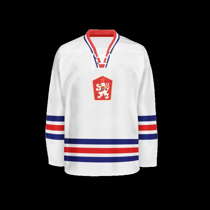Hokejový dres z roku 1974.