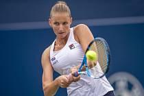 Česká tenistka Karolína Plíšková ve 3. kole turnaje v Torontu.