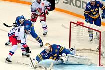 Jiří Novotný v zápase proti Švédsku