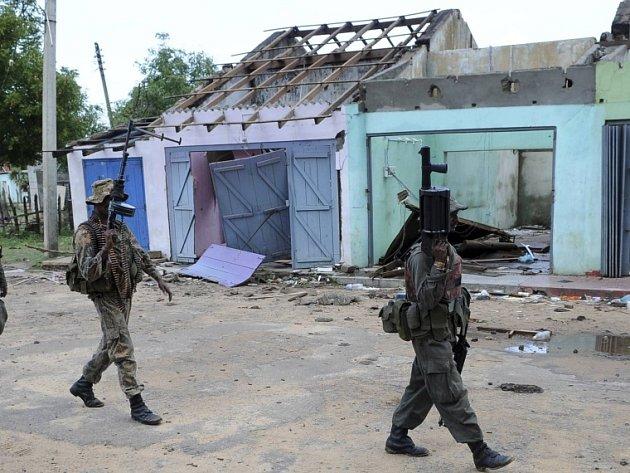 Vládní vojáci na severu Srí Lanky.