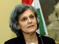 Maďarská ministryně zahraničí Kinga Gönczová.