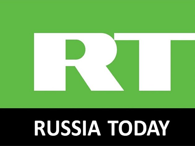 Logo ruské stanice Russia Today.