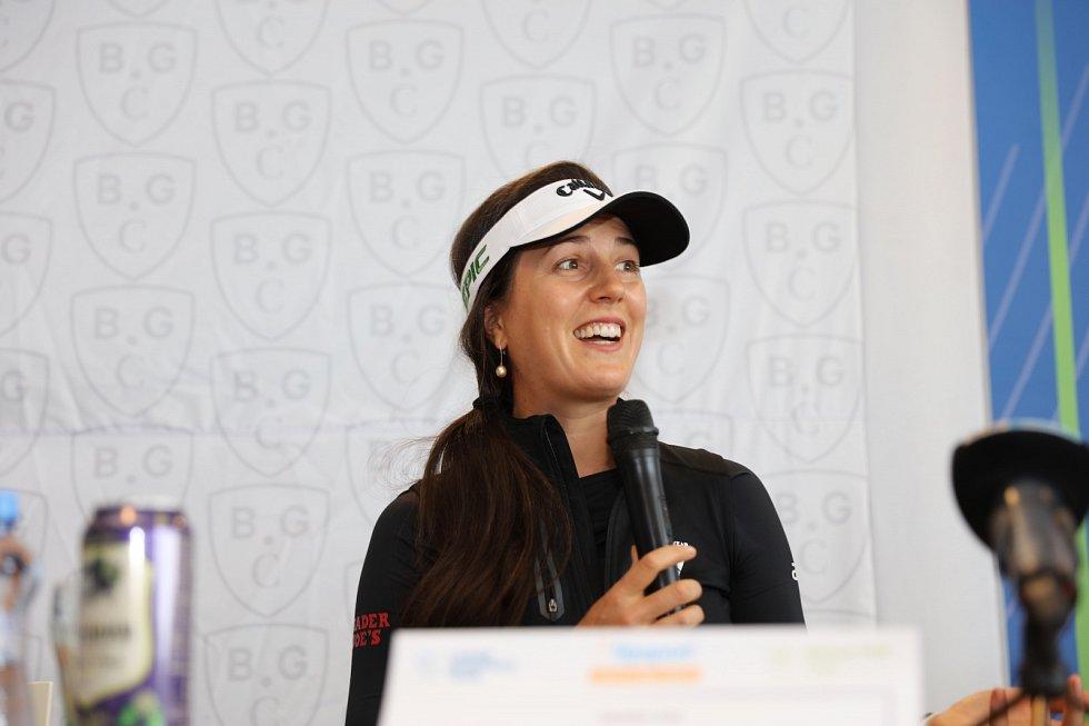 Sandra Galová na tiskové konferenci